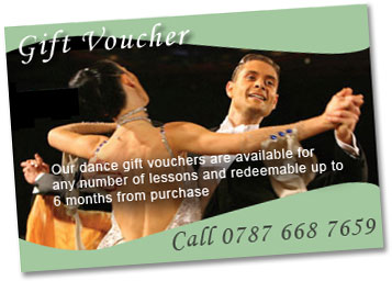 Why not buy a unique gift! our Ballroom Dance lesson gift vouchers are available for any number of Ballroom Dance lessons and are redeemable at any location within 6 months of purchase. Call 0787 668 7659.